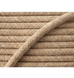 Cable éléctrique textile de couleur Lin Vente au Mètre  Cable aux normes CE 2x0,75