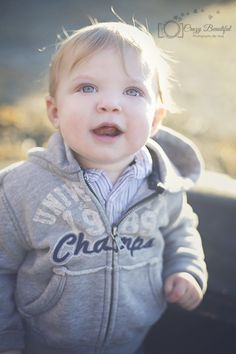 www.facebook.com/crazybeautifulphotos    #photography #sun #happy #boy #1 year old #jacket #hoodie
