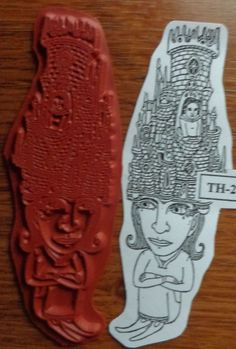 "RARE! Theo Ellsworth Zettiology ""CASTLE'S"" Unmounted Rubber Stamp Teesha Moore"