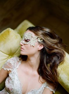 claire pettibone photographed by elizabeth messina Masquerade Wedding, Masquerade Ball, Masquerade Theme, Masquerade Costumes, Venetian Masquerade, Fairy Costumes, Vintage Inspired Wedding Dresses, Designer Wedding Dresses, Whimsical Wedding
