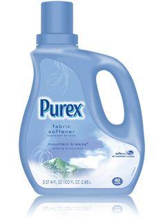 Classic Purex Regular Fabric Softener - Mountain Breeze  perfect for softening my clothing! #mypurexfavorites
