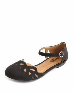 MH: Charlotte Russe:sueded laser-cut ballet flat