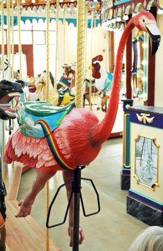 Flamingo carousel figure! By The Carousel Works, Ohio.
