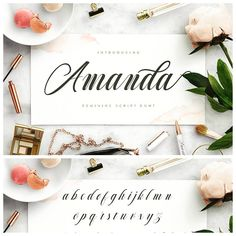 """600 Me gusta, 6 comentarios - Daily Typography Inspirations™ (@thedailytype) en Instagram: """"Our favorite font of the week 'AMANDA' ✨ . __ She swirls across the page with elegance and style,…"""""""