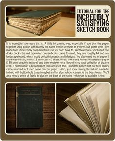 Make your own sketch book.