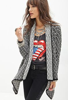 Two-Tone Knit Cardigan | Forever 21 - 2055879123