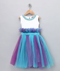 Take a look at this Turquoise & Purple Pearl Tutu Dress - Infant, Toddler & Girls by Candytoez on #zulily today!