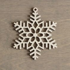 Wooden Snowflake 10 cm Christmas Decoration Laser by MemelCraft Christmas Mood, Christmas Crafts, Christmas Decorations, Christmas And New Year, Wood Ornaments, Xmas Ornaments, Wooden Crafts, Wooden Toys, Christmas Wooden Signs