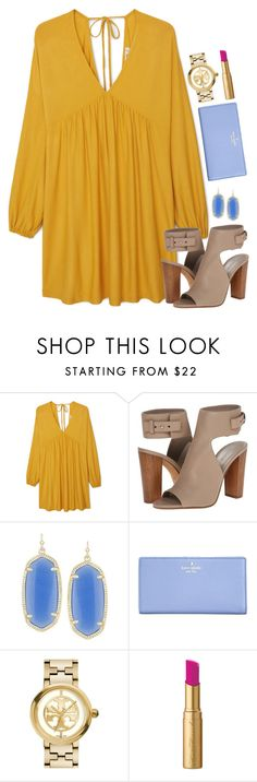 """church ootd "" by thatprepsterlibby ❤ liked on Polyvore featuring MANGO, Vince, Kendra Scott, Kate Spade, Tory Burch and Too Faced Cosmetics"