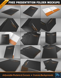 Free Download : 15 Folder Design Mockup Templates for Photoshop