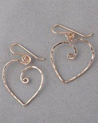 Jennifer Engel Designs - Heart Wire Earrings, Hayden's Heart Collection, Handcrafted Jewelry