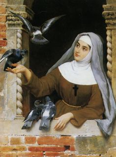She was a nun who loved animals and feeding them.