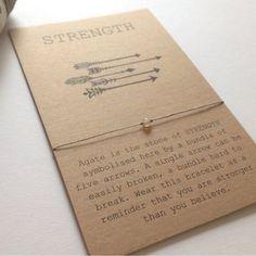 Agate Gemstone Strength Friendship Bracelet