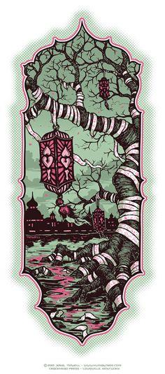 Humantree.com - - The art of Jeral Tidwell | News » 9-20-2010 NEW TREE ART PRINT and LONDON TATTOO CONV.