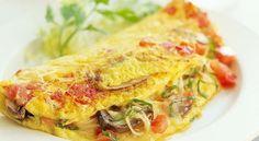 Un desayuno rico y saludable: Omelet de hongos y tomate | Adelgazar – Bajar de Peso