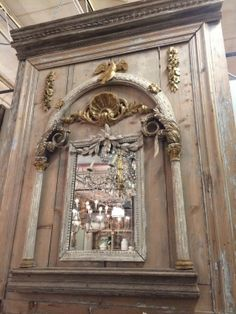 """18th c. Italian trumeau boiserie, all old, 46""""W x 59""""H, available at $12,995."""