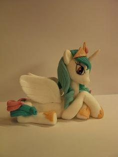"Studio ""FLUX DESIGN ANA"" - figurice za Torte (basierend Zahlen): Mein kleines Pony (Moj Mali Poni) - stützen Zahlen Prinzessin Celestia, Luna, Little Pony"