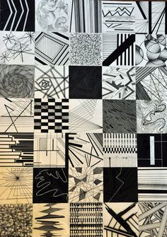 Zentangle Sampler – Patterns and Starter Pages – Agli Doodle Patterns, Zentangle Patterns, Elements Of Art, Elements Of Design, Composition Design, Principles Of Design, 2d Design, Abstract Drawings, Design Basics