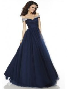 Ball Gown Off-the-shoulder Sleeveless Floor-length Ruched Tulle Dresses