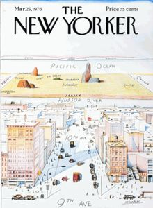 "The New Yorker - Saul Steinberg's ""View of the World from Ninth Avenue"" cover. - Wikipedia, the free encyclopedia"