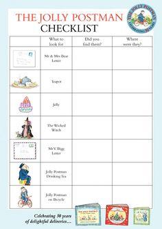 The Jolly Postman - checklist - Penguin schools resource Teaching Activities, Classroom Activities, Eyfs Classroom, Teaching Ideas, Tot School, First Day Of School, Jolly Christmas Postman, People Who Help Us, Traditional Tales