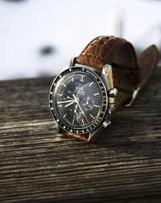 Omega Speedmaster Professional with racing strap