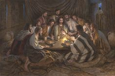 """Last Supper by Jon McNaughton     Jesus Christ, Savior, King, Lord, New Testament, The Twelve Apostles, love, """"Peace I leave with you, my peace I give unto you: not as the world giveth, give I unto you. Let not your heart be troubled, neither let it be afraid."""" John 14:27"""