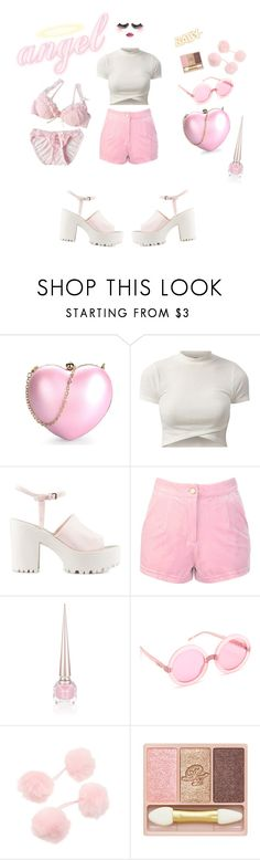"""angel baby"" by rose-flavour ❤ liked on Polyvore featuring Nly Shoes, Christian Louboutin, Wildfox and Paul & Joe"