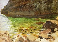 Ferdynand Ruszczyc | Brzeg morza i skaly