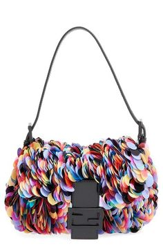 Fendi Paillette Baguette Shoulder Bag available at #Nordstrom