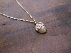 Acorn Necklace by WeAreArrow on Etsy