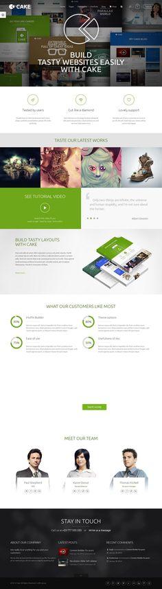 Cake Responsive #WordPress Multi-Purpose Business Theme http://www.themesandmods.com/premium-wordpress-themes/cake/