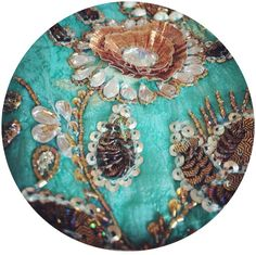 #turquoise #selfprint crepe #silk with #antique #gold #3d #flowers and glass beads embroidery using traditional #indian design with a #contemporary touch. Pure #silk #luxury #tailored #clothing brought to you by #avanirose #photooftheday #instagood #instafashion #outfitoftheday #ootd #novice #concepts