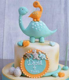 Super Birthday Cake For Boys Diy Fondant Ideas Dinasour Birthday Cake, Baby Birthday Cakes, Dinosaur Birthday, Dinosaur Dinosaur, Safari Baby Shower Cake, Baby Shower Cakes, Die Dinos Baby, Dino Cake, Cakes For Boys