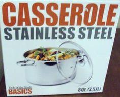 Basics Casserole Stainless Steel *** Learn more @