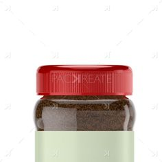 200g Instant Coffee Square Jar & Smart Label mockup