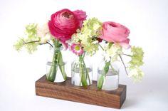 wood vase romatic by Myflowermeadow on Etsy,