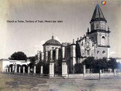 Iglesiaen IxtlándelRío, Nayarit (c. 1895).