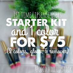 HAPPY NEW YEAR!  **TODAYS DEAL** Buy a Starter kit and 1 color for $75! You get 2 colors, 1 gloss, and 1 remover!  DM to order! **ALL DEALS END JAN 7TH!** (check out yesterday's deal as well!)  • • • #cocohilllipstick #lipsensedistributor233998 #dmtoorder #todaysdeal #lipstick #love #starterkitlipsense #alldealsendjan7th #dontmissout #lipsense