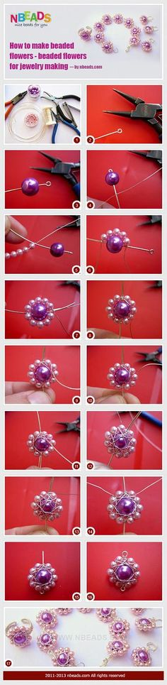 How to Make Beaded Flowers - Beaded Flowers for Jewelry Making – Nbeads