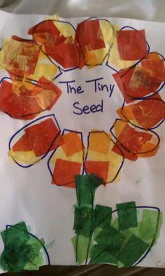 The Tiny Seed Eric Carle week! The Tiny Seed Kindergarten Crafts, Preschool Books, Preschool Crafts, Kids Crafts, Bug Crafts, Preschool Classroom, Preschool Ideas, Classroom Ideas, Tiny Seed Activities