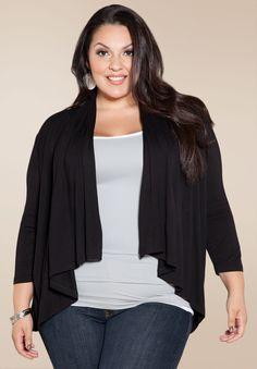 4c6749cabb6 PRE ORDER  Open Cardigan - Black Plus Size Clothing Sale