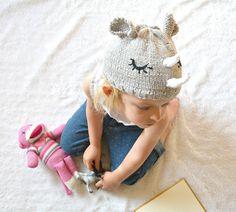 Easy rhino knit hat