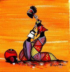 Bed Linen And Curtain Sets African Art Paintings, African Artwork, Black Art, Worli Painting, Afrique Art, Creation Art, Art Premier, Afro Art, African American Art