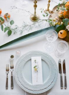 Shades of gray and orange: http://www.stylemepretty.com/2015/06/24/jose-villa-mexico-workshop-week-two-welcome-dinner/   Photography: Jose Villa - http://josevilla.com/