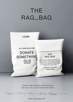 The Rag Bag | Minimal Fashion Sustainable Packaging Bag Design | Award-winning Packaging Design | D&AD