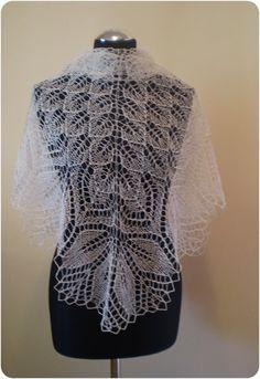Summer shawl  hand knitted triangular linen shawl by KnitANDlace