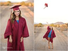 Senior pictures. Cap and gown.
