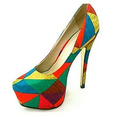 d54b225eb1 Selling this Mosaic platform heels in my Poshmark closet! My username is:  medusabou.