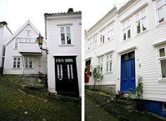 Fachadas casas Bergen Noruega